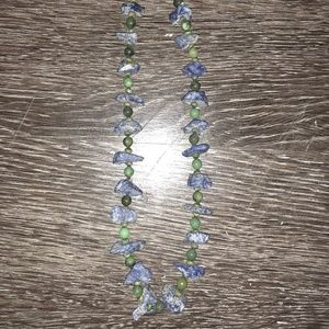 Authentic Chan Luu Blue and Green Stone Necklace